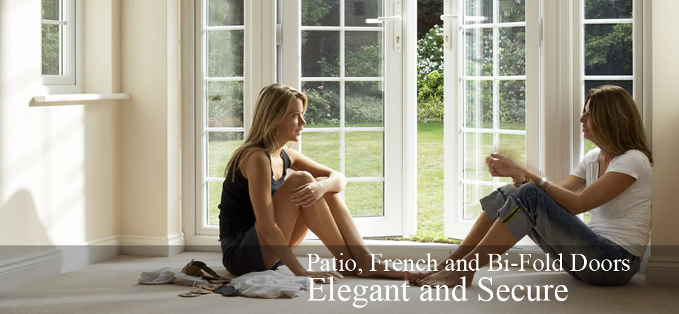 patio, french and bi-fold door. Elegant and secure